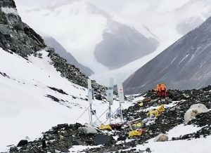 5G Network Towers on Mount Everest by Huwaei