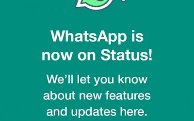 Whatsapp New Status rolls Out Today to all whatsapp users.